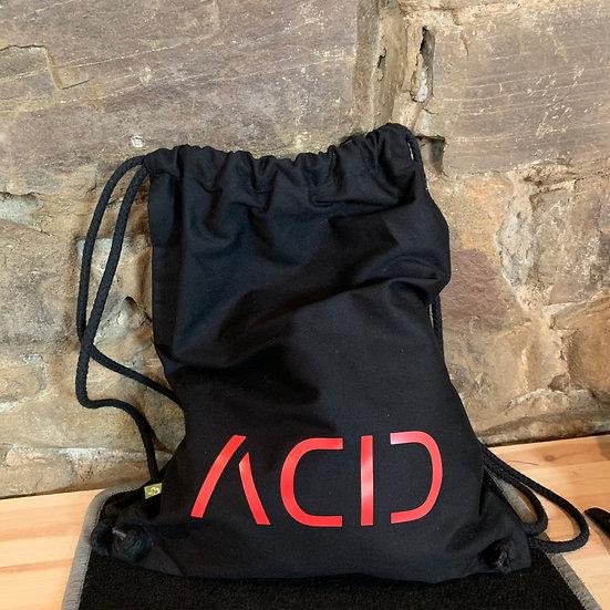 ACID Turnbeutel in schwarz mit rotem Schriftzug