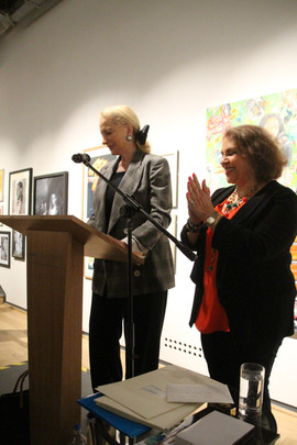 HRH announcing the exhibitoin Open.JPG