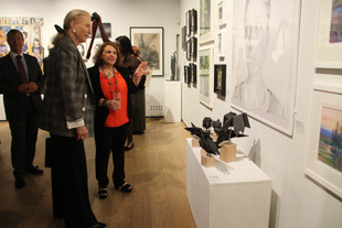 Soraya French introducing HRH to the wor