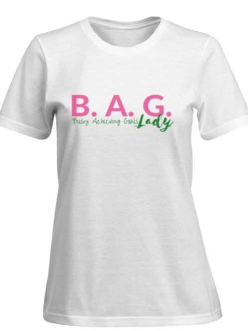 B.A.G. Lady (Busy Achieving Goals) - Pink/Green