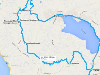 Neu Bike Tour über den Zugerberg