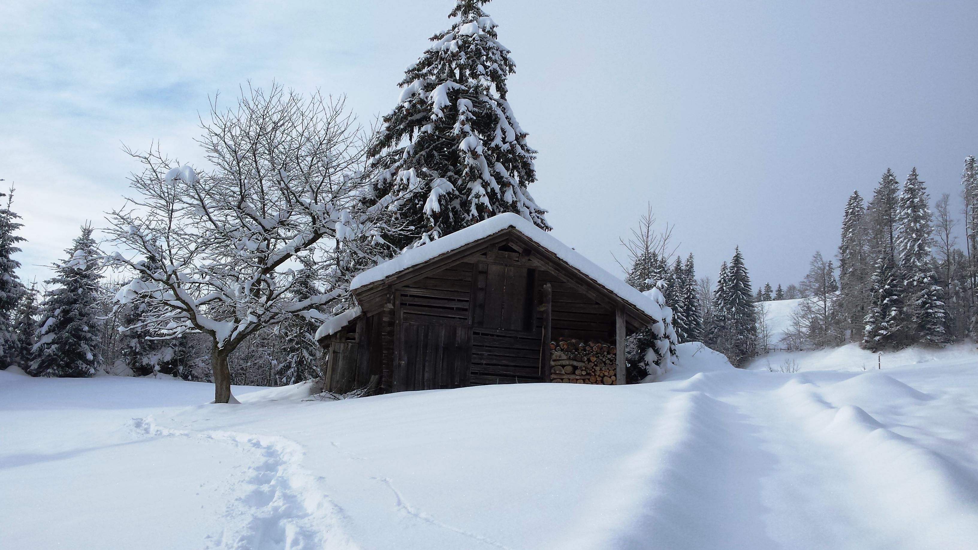Auf unserer Schneeschuh Tour