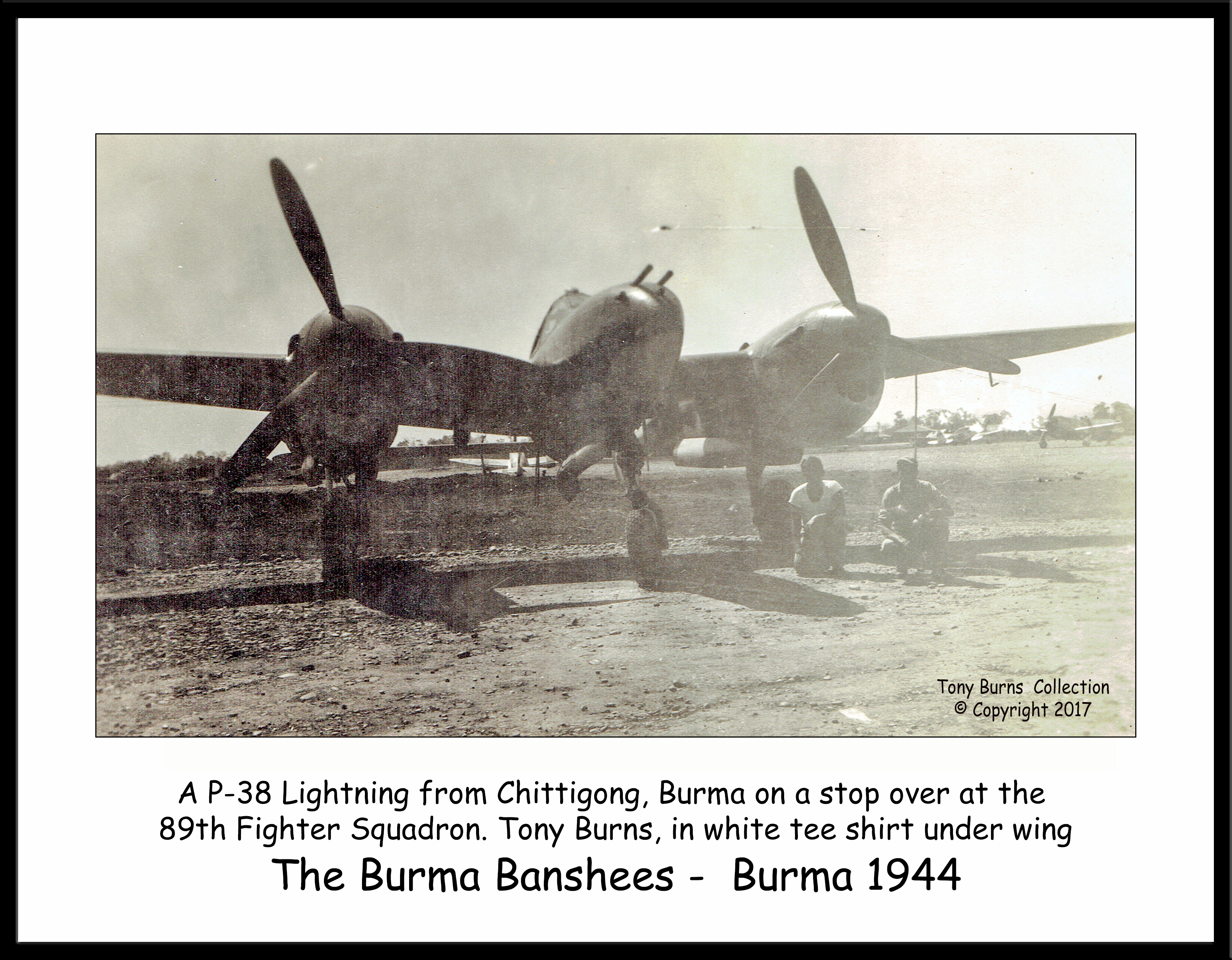 P-38 Chittagong_Burns