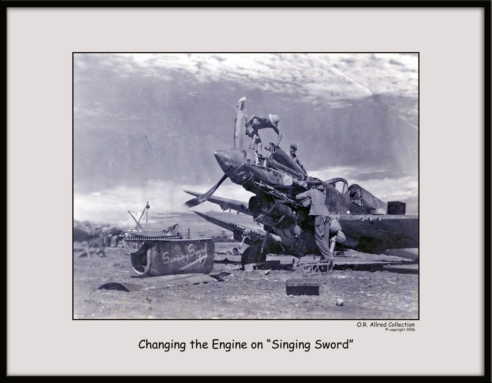 Changing-Engines-on-a-P-40