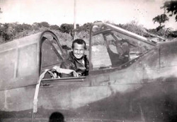 Bob Gale in the cockpit