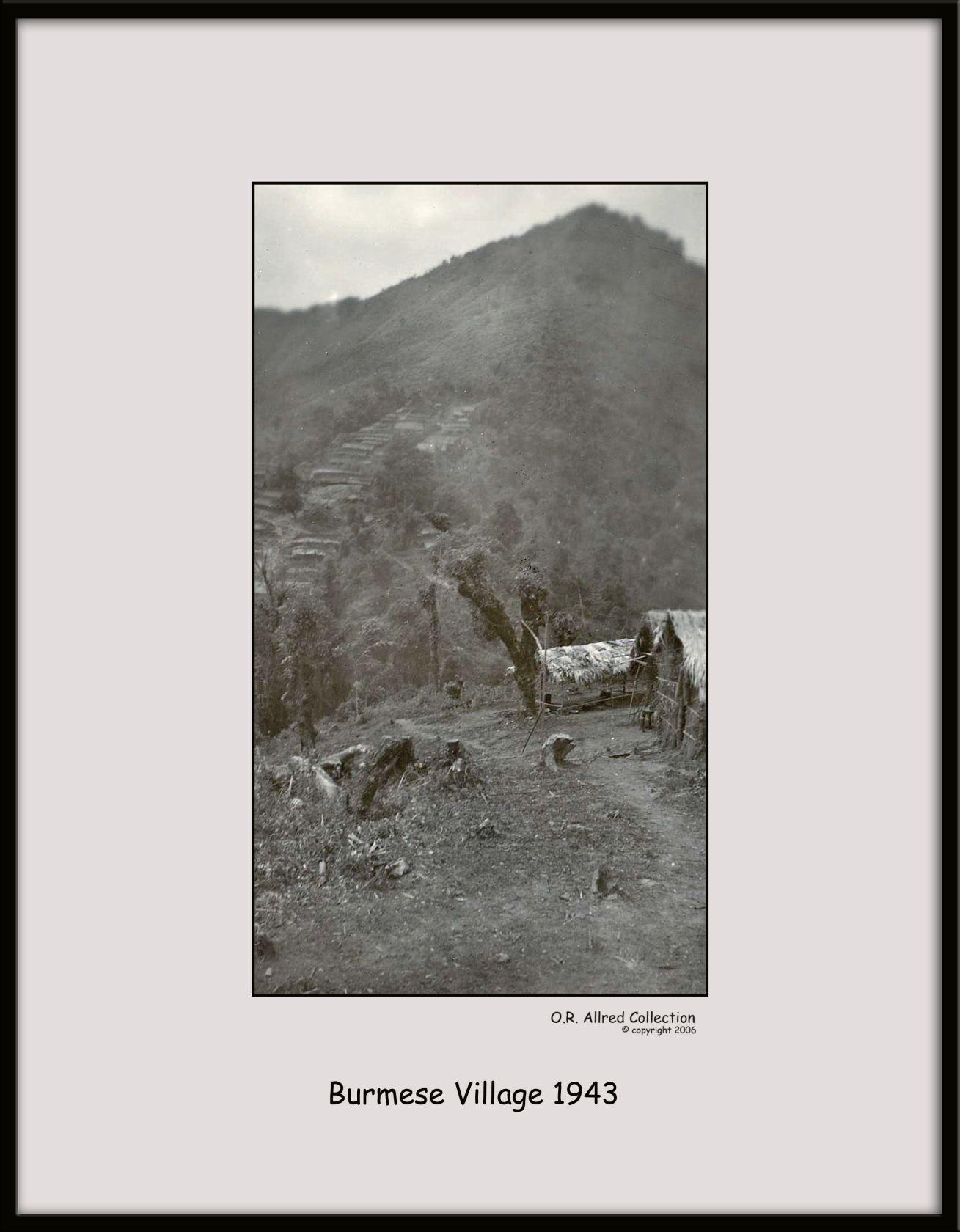 Burmese-Village,-1943
