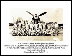 P-40N #1 groundcrews 89thFS_Burns