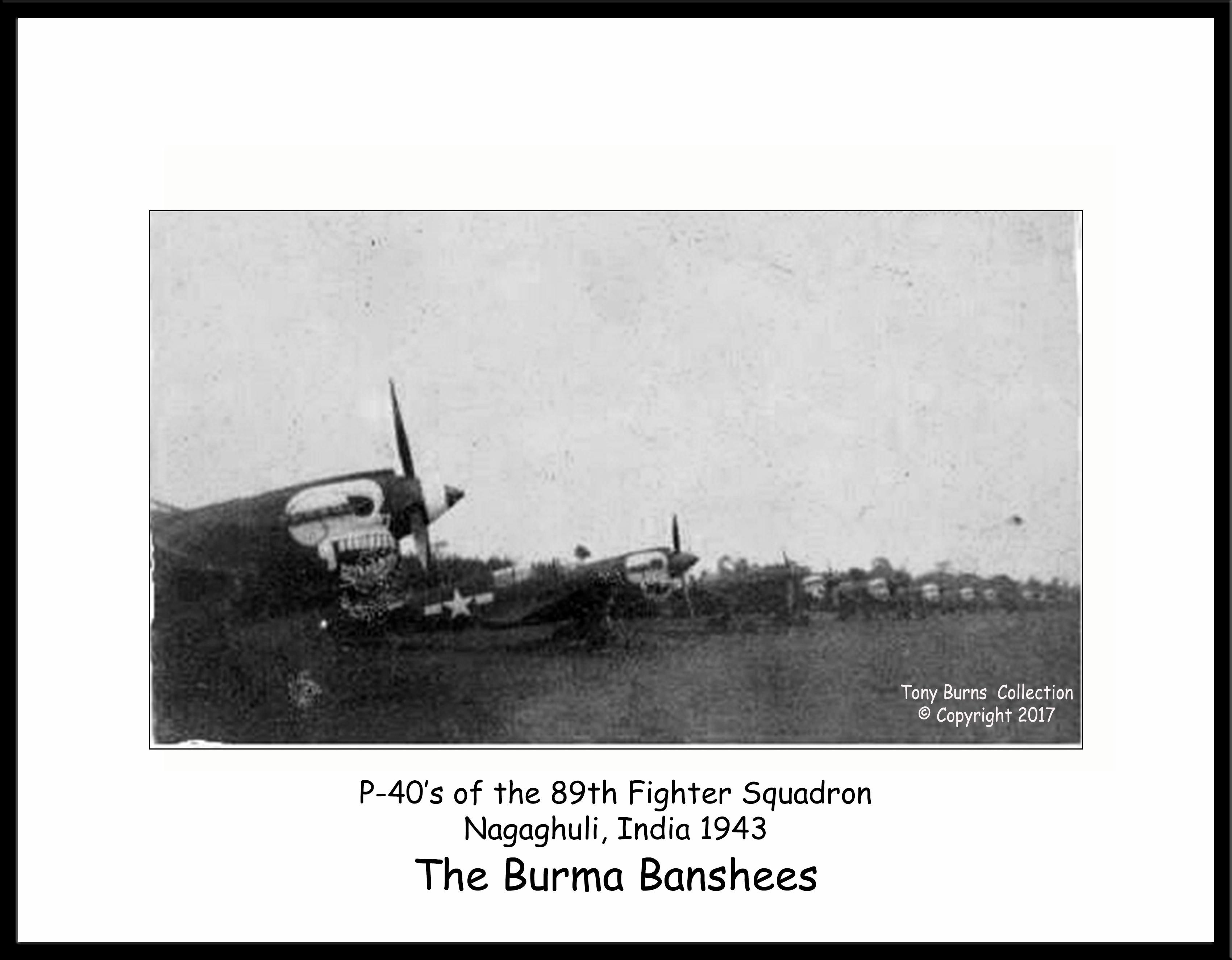 P-40N #1 & 89thFS line-up
