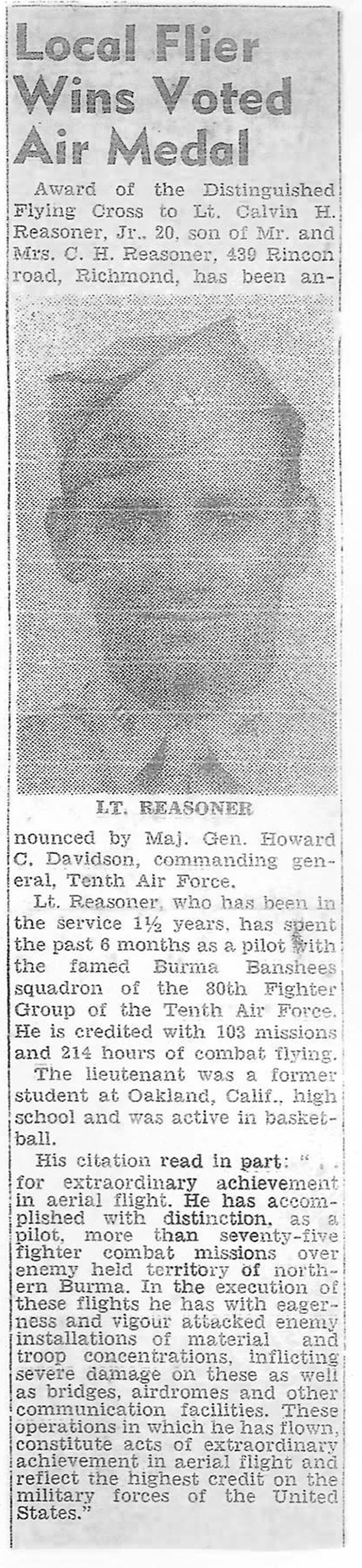 Reasoner Newspaper copy