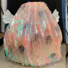 Pufferfish wearable puppet
