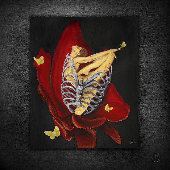 Prisonnière de sa fleur