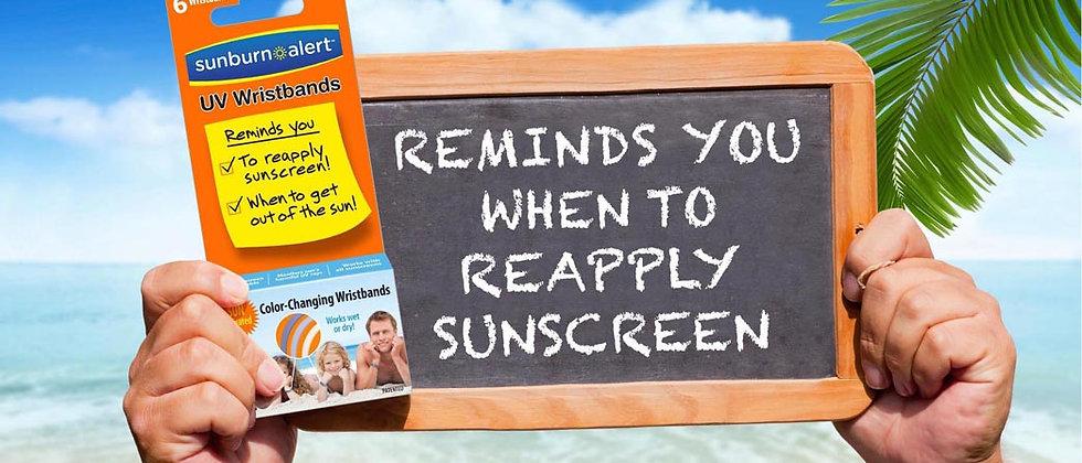 Sunburn Alert UVA/UVB Monitoring Stickers