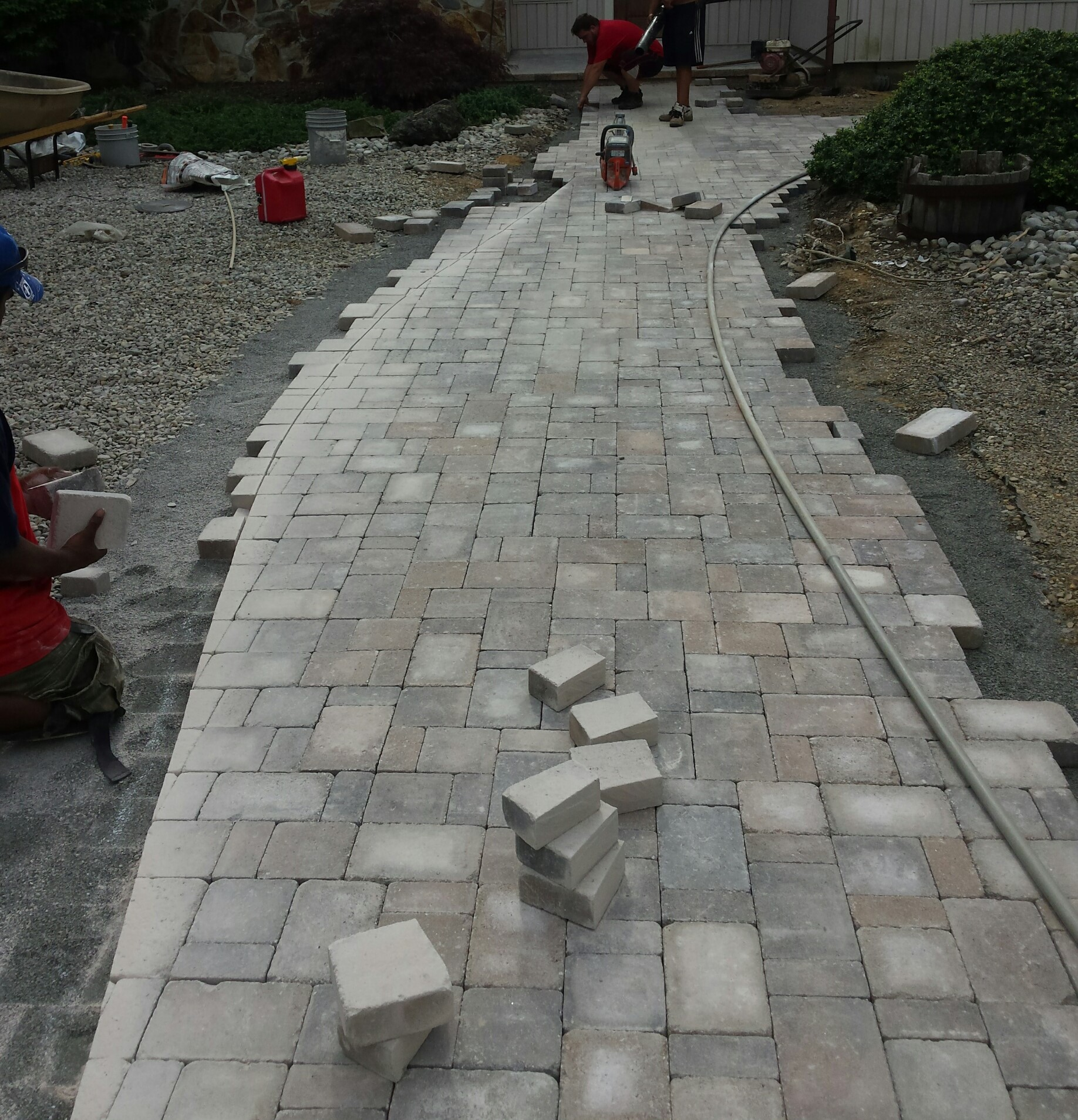 Walkway in progress