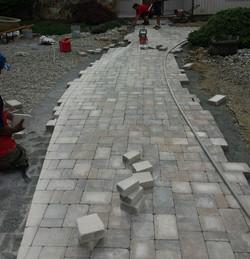 Walkway in progress