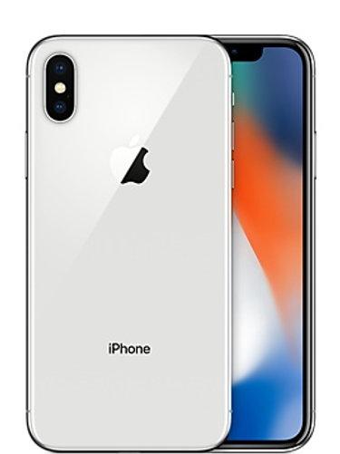 i phone X silver-nero
