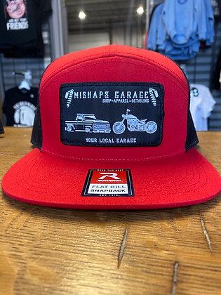 Red and Black Mishaps Garage Snapback