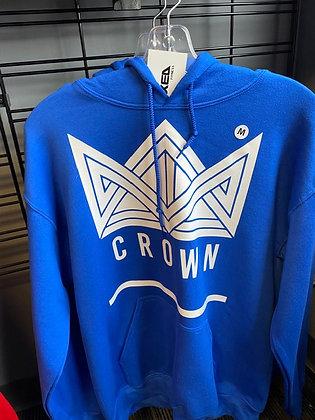 Blue Crown Pullover Hoodie