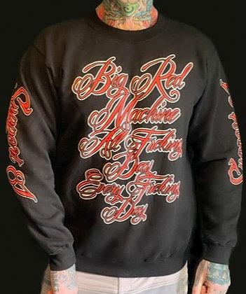 Men's Black Script Sweater