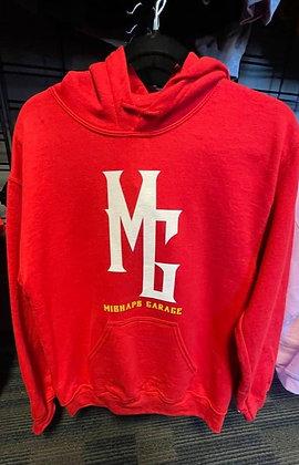 Ladies Red Mishaps Garage Hoodie