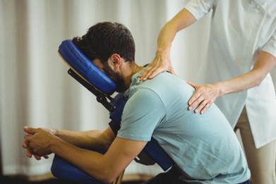 massage sur chaise au travail montreal