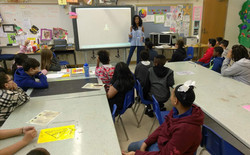 Speaking at Hazel Harvey peace elementary school for career day
