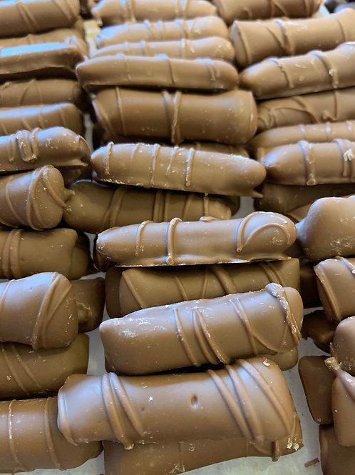 Milk Chocolate Peanut Butter Logs