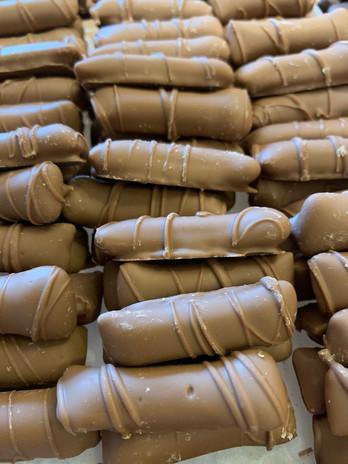 Milk Peanut Butter Logs