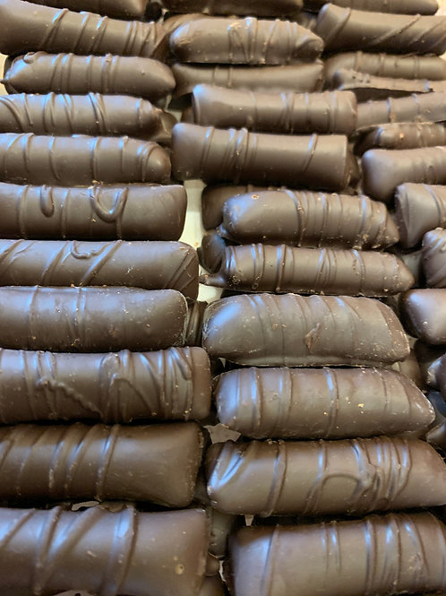 Dark Chocolate Peanut Butter Logs
