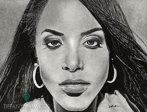 12x16 Aaliyah Charcoal Portrait (2017)