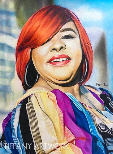 Small Colored Pencil Portrait, 11x14
