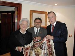 President George Bush & Laura Bush