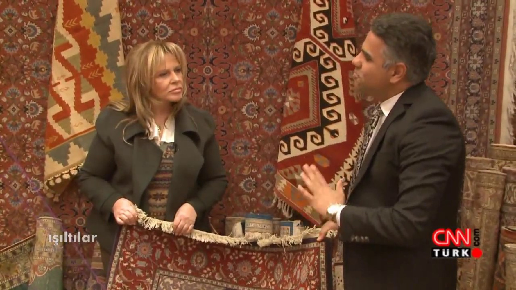 CNN Turk hosts Hakan Evin ,talks about how he started and became famous rug dealer in Grand Bazaar