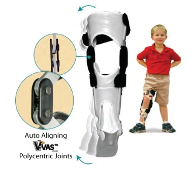 KAFO with polycentric knee