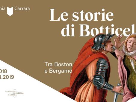 """Dal 12 ottobre al 28 gennaio a Bergamo con le """"Storie di Botticelli"""""""
