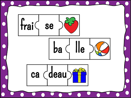 Les syllabes puzzles