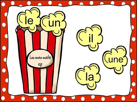Les mots outils cp (pop-corn)