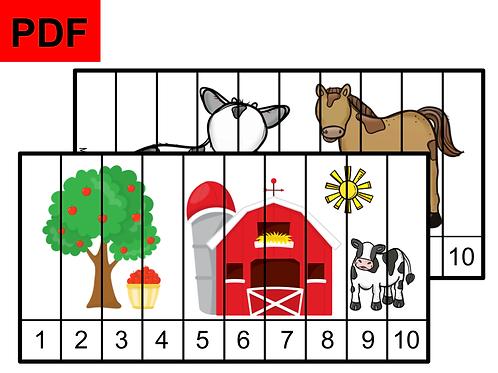 Puzzles numériques (la ferme)
