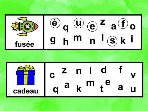 Jouons avec les lettres !