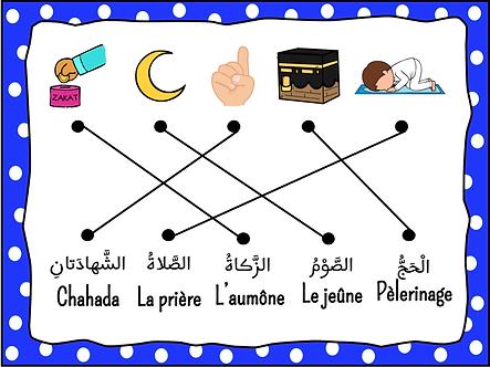 Exercice les 5 piliers de l'islam garçon