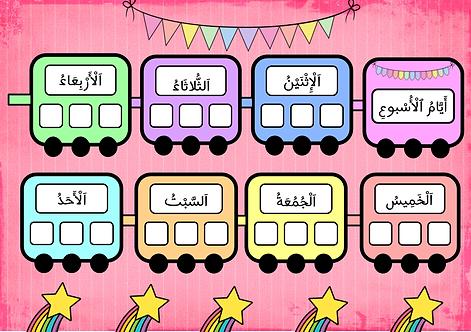 Affichage le train des jours de la semaine (arabe)