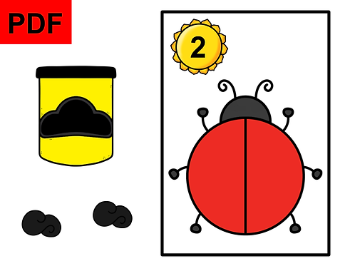 Pâte à modeler comptons les points (coccinelle)