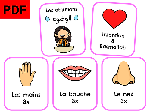 Cartes ablutions (fille)
