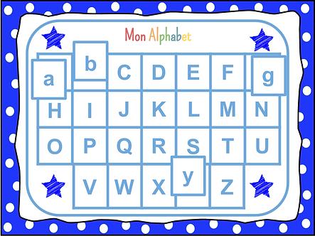 Jeu mon alphabet (garçon)