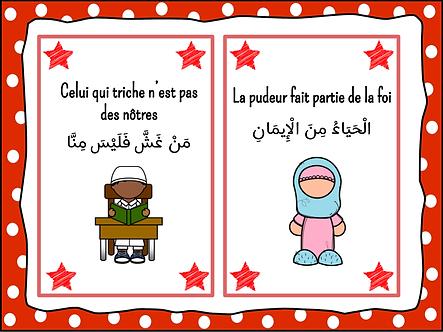 Cartes des hadiths