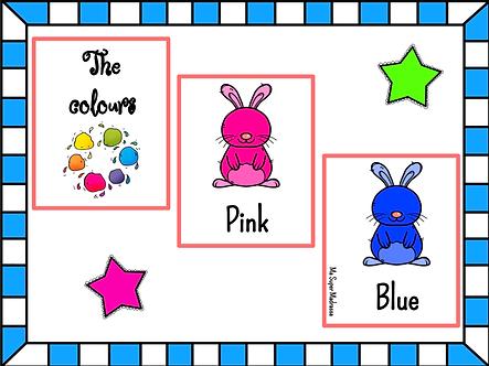 Cartes vocabulaire les couleurs