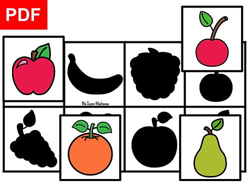 Les ombres fruits et légumes