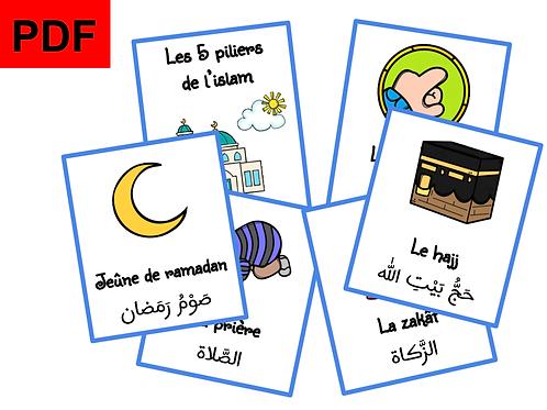 Cartes les 5 piliers de l'islam (garçon)