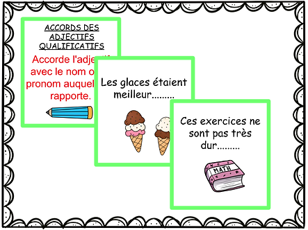 Jeu : accords des adjectifs qualificatifs