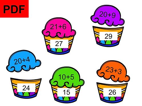 Cupcakes jeu des additions