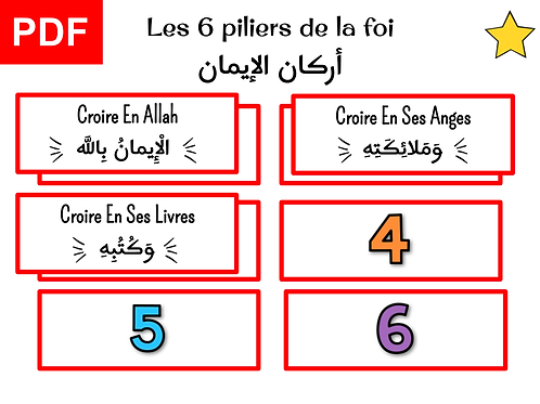 Jeu 6 piliers de la foi (garçon)